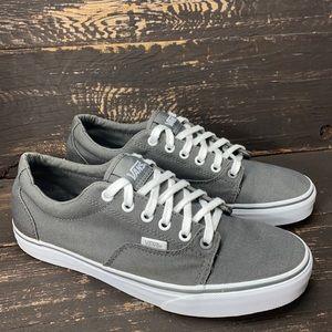 Vans Grey Canvas Sneakers Size 8.5